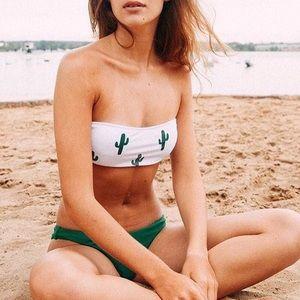 Other - Cactus Bandeau Cheeky Bikini Set